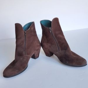 Arche Muran Ankle Booties Brown Suede